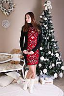 Платье-орнамент,трикотажное О-1036