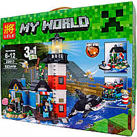 "Конструктор Lele 33017 Minecraft ""Маяк 3 в 1"" (аналог LEGO Creator 31051), 553 детали"