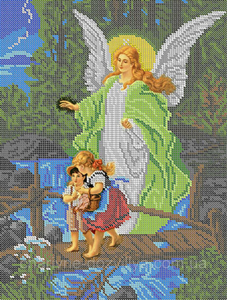 """Схема для вышивки бисером икона """"Ангел-Хранитель"""""""