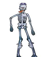 Декор настенный (150см) Скелет с языком