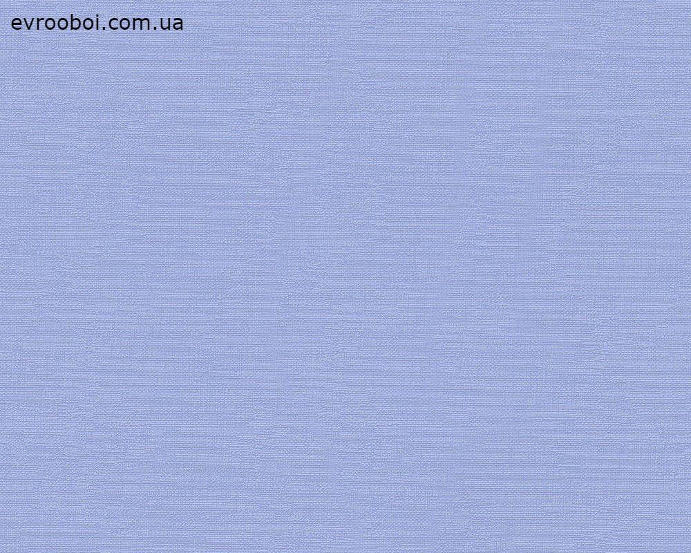 Обои моющиеся однотонные, голубого цвета 340078.