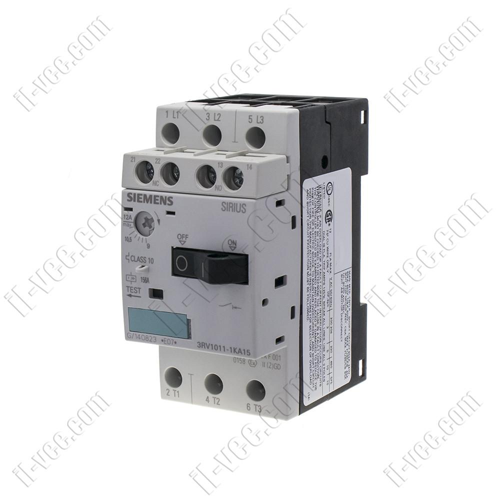 Автоматический выключатель защиты двигателя 3RV1011-1KA15 9-12A Siemens