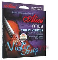 Alice A708 Violin Струны для скрипки сталь/алюм/серебро