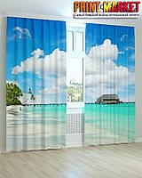 Фотошторы облака и океан 3Д