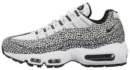 Кроссовки мужские Найк Nike Air Max 95 Premium Safari Pack White/Black. ТОП Реплика ААА класса., фото 2