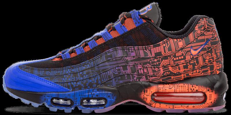 Кроссовки мужские Найк Nike Air Max 95 Doernbecher Red/Blue/Black. ТОП Реплика ААА класса.