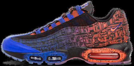 Кроссовки мужские Найк Nike Air Max 95 Doernbecher Red/Blue/Black. ТОП Реплика ААА класса., фото 2