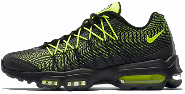 Кроссовки мужские Найк Nike Air Max 95 Ultra Jacquard Green/Black . ТОП Реплика ААА класса.