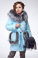 Красивая зимняя теплая детская куртка Бетт