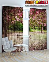 Фотошторы 3д цветущие деревья