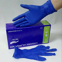 Перчатки нитриловые NITRYLEX, синие  (50пар/упак)L