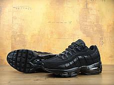 Кроссовки мужские Найк Nike Air Max 95 All Black, фото 3