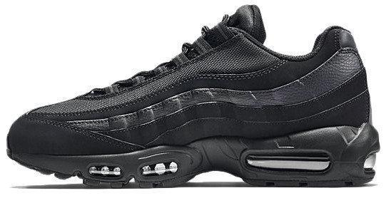Кроссовки мужские Найк Nike Air Max 95 All Black. ТОП Реплика ААА класса.