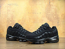 Кроссовки женские Найк Nike Air Max 95 All Black. ТОП Реплика ААА класса., фото 3