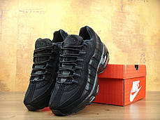 Кроссовки мужские Найк Nike Air Max 95 All Black. ТОП Реплика ААА класса., фото 2