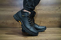 Мужские зимние ботинки с нат.кожи Ecco 10466 размеры: 40 41 42 43 44 45