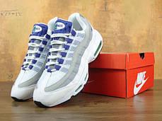 Кроссовки мужские Найк Nike Air Max 95 Purple/White/Grey. ТОП Реплика ААА класса., фото 3