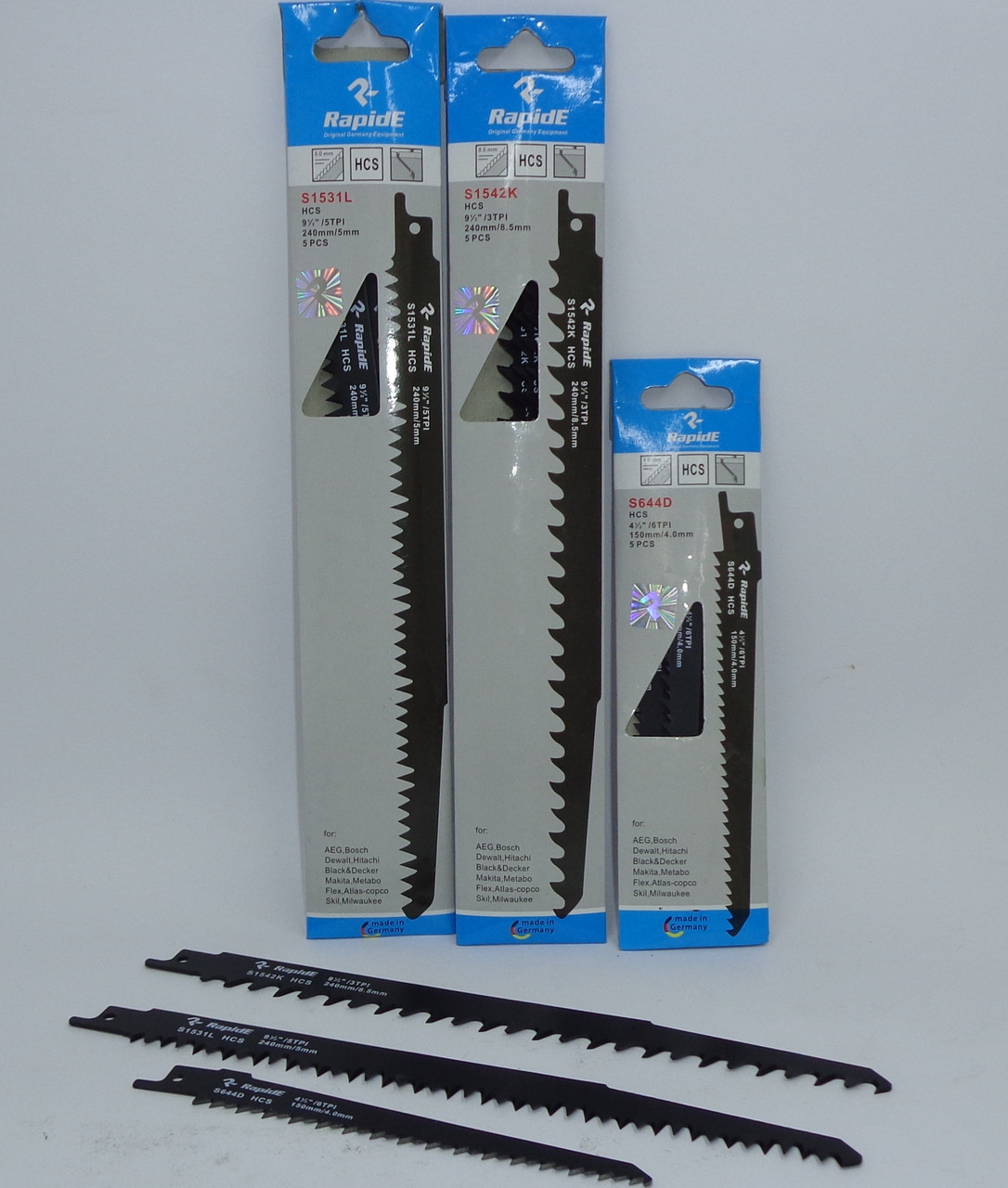 Полотно для сабельной электро ножовки S1531L Wood(дерево) L=240mm ( 5 шт)