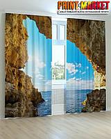 Фотошторы море в скалах