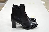 Женские черные ботинки Jeiday к.5089, фото 1