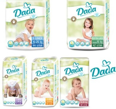 b9a4b761a6ac DADA 3 Extra Soft midi (4-9 кг) 60 шт. DADA 4 Extra Soft maxi (7-18 кг) 52  шт. DADA 4 + Extra Soft ( 9-20 кг ) 48 шт. DADA 5 Extra Soft junior (15-25  кг) 44 ...
