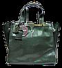 Превосходная женская сумочка из натуральной кожи зеленого цвета MME-087761
