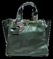 Превосходная женская сумочка из натуральной кожи зеленого цвета MME-087761, фото 1
