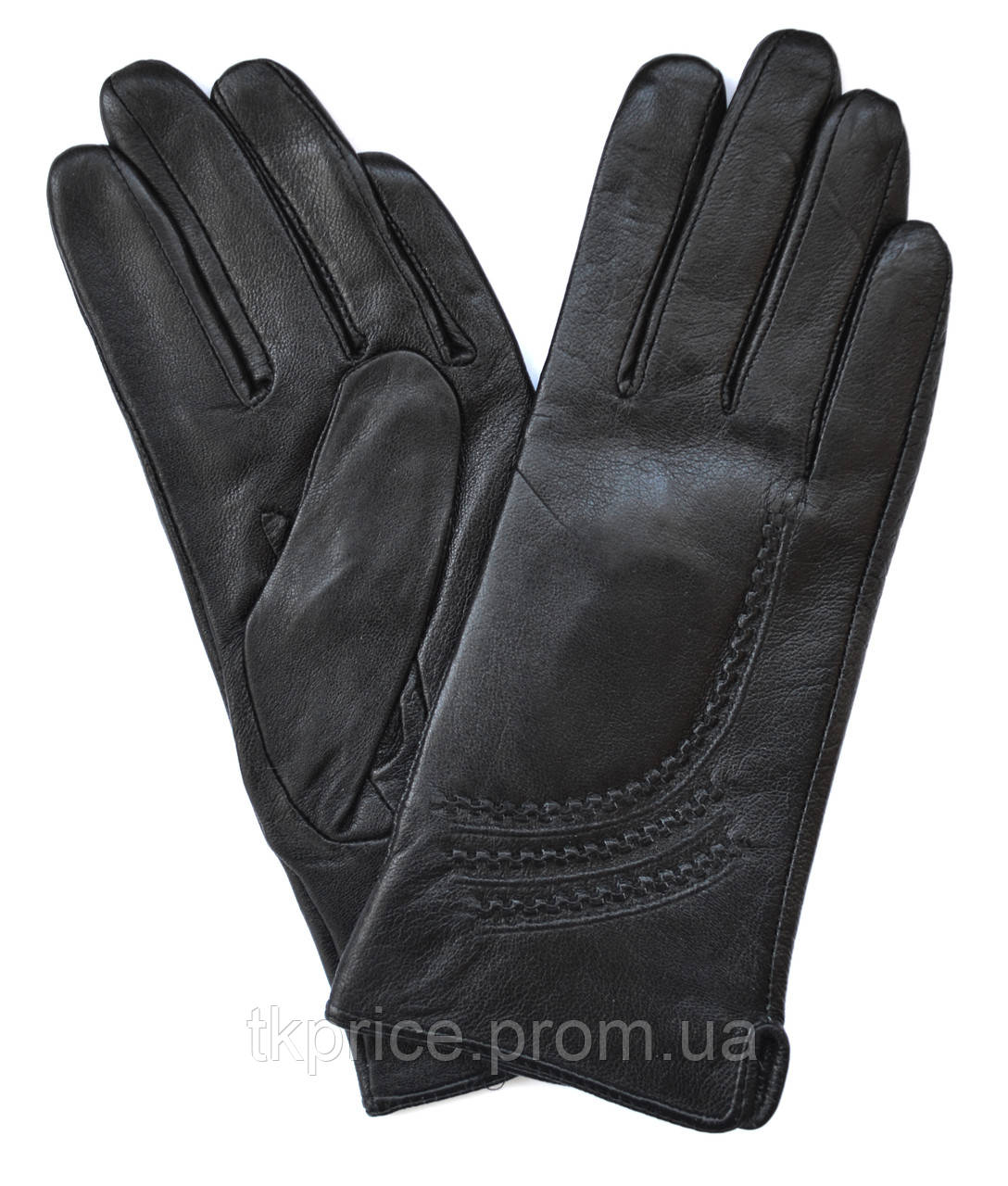 Женские перчатки из натуральной мягкой и эластичной кожи на плюшевой подкладке