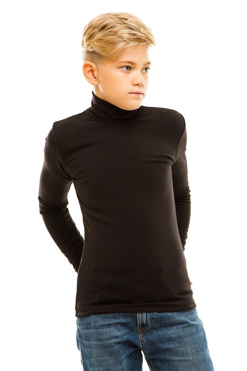 Гольф детский на флисе 026 черный