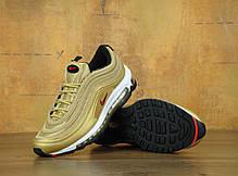 Кроссовки женские Найк Nike Air Max 97 Premium Gold . ТОП Реплика ААА класса., фото 2