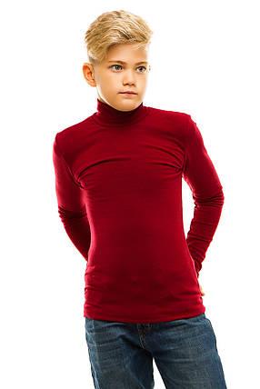 Гольф детский на флисе 026 бордо, фото 2