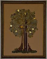 """Картина вышитая лентами """"Денежное дерево"""""""