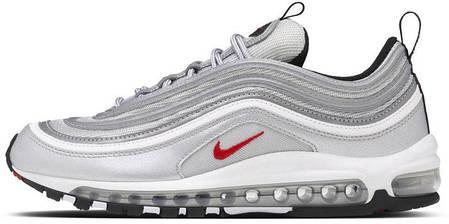 Кроссовки мужские Найк Nike Air Max 97 OG QS Metallic Silver , фото 2