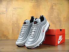 Кроссовки мужские Найк Nike Air Max 97 OG QS Metallic Silver . ТОП Реплика ААА класса., фото 2