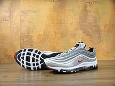 Кроссовки мужские Найк Nike Air Max 97 OG QS Metallic Silver , фото 3
