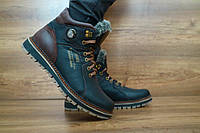 Мужские зимние ботинки с нат.кожи Zangak Черный\коричневый 10445 размеры: 40 41 42 43 44 45