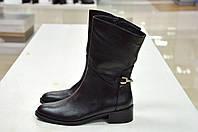 Полусапоги черные кожаные Slash к.704, фото 1