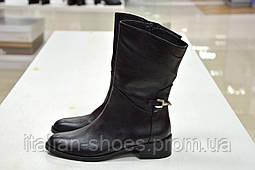 Полусапоги черные кожаные Slash к.704