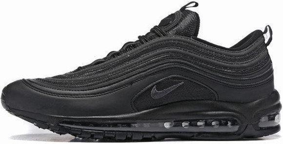 Кроссовки мужские Найк Nike Air Max 97 OG Triple black. ТОП Реплика ААА класса.