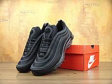 Кроссовки мужские Найк Nike Air Max 97 OG Triple black. ТОП Реплика ААА класса., фото 2