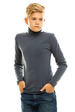 Гольф детский на флисе 026 темно-серый, фото 2