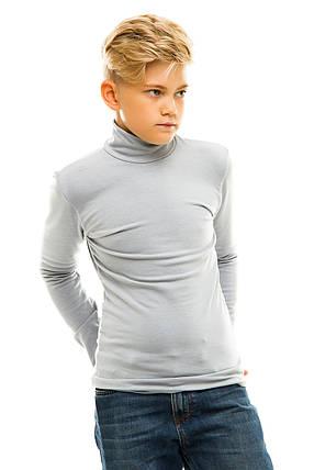 Гольф детский на флисе 026 серый, фото 2