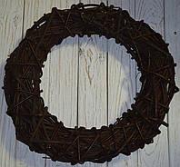 Венок из лозы коричневый 50 см, фото 1