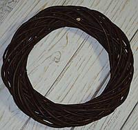 Венок из лозы коричневый 30 см