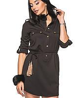 Женское трикотажное платье на кулиске (206br)