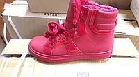 Женские ботинки красные Зима