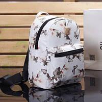 Рюкзак с цветочным принтом белый