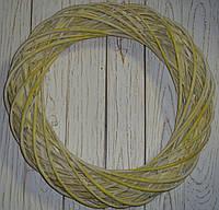 Венок из лозы желтый 50 см