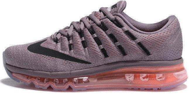 Кроссовки женские Найк Nike Air Max 2016 Carbon Grey Pink. ТОП Реплика ААА класса.