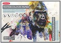 Склейка для акварели Derwent Watercolor белая гладкая A3 (42х29.7) 300 г/м2 12 листов (5028252337342)
